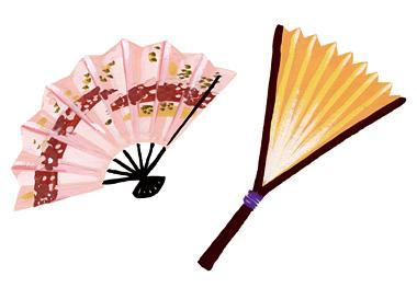 7.How is the fan of a Noh performer different?